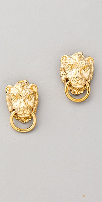 Fallon Jewelry Gia Lion Stud Earrings