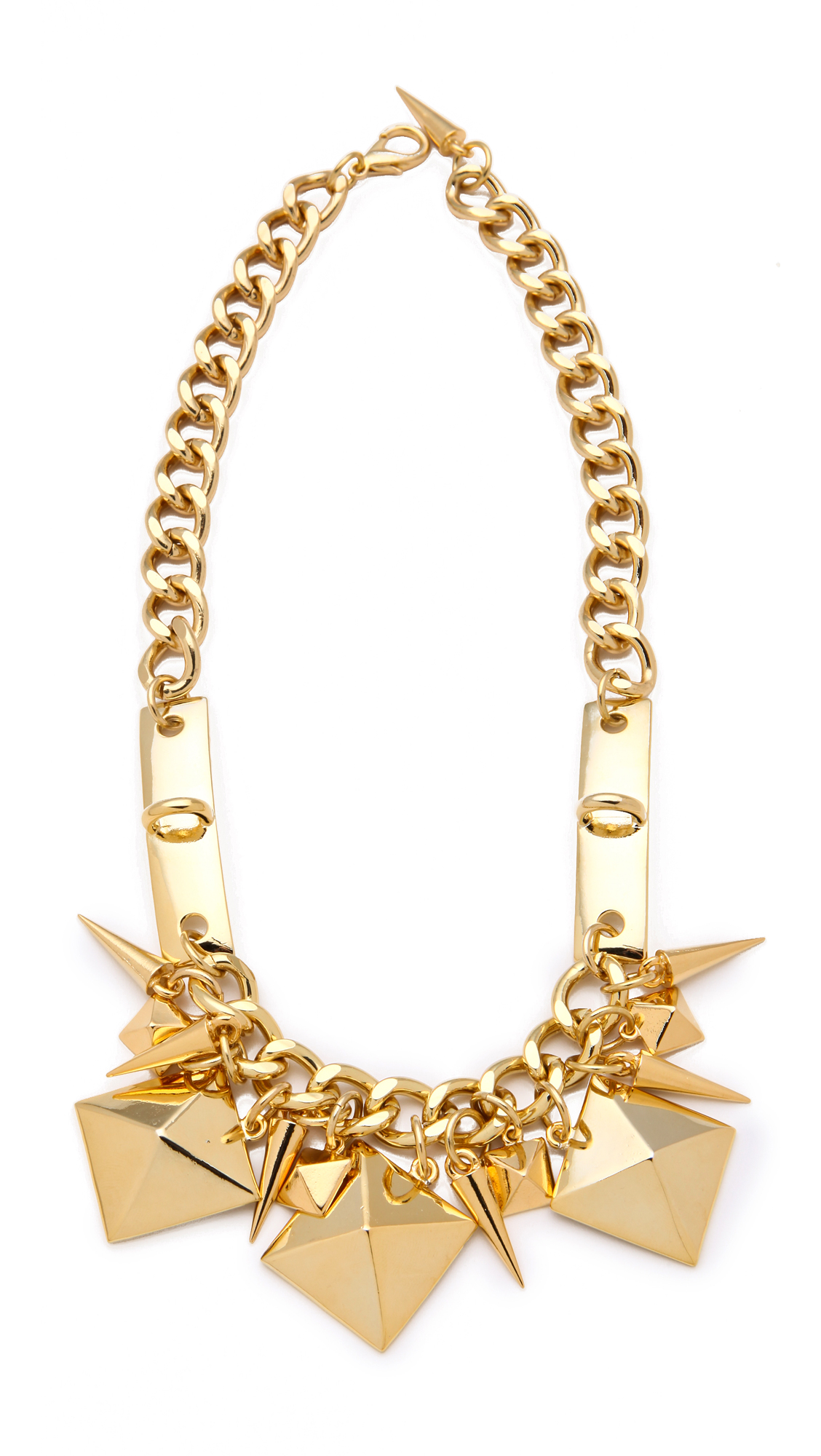 Fallon Jewelry Extra Large Stud Swag Necklace