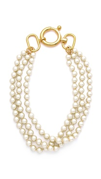 Fallon Jewelry Classique Triple Strand Necklace