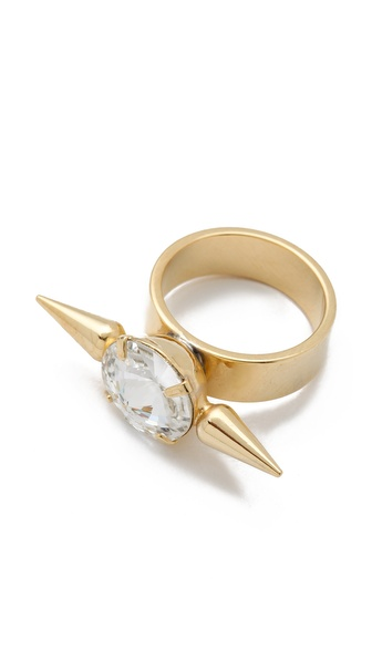 Fallon Jewelry Crystal Spike Ring