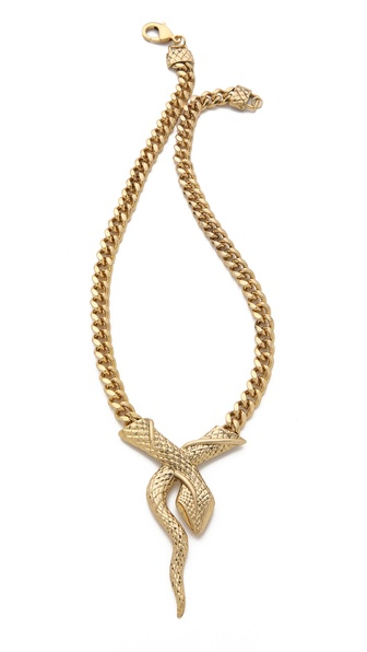 Fallon Jewelry Snake V Pendant Necklace