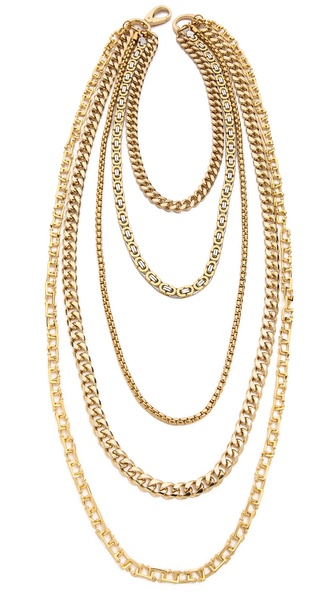 Fallon Jewelry Oversized Clasp Draped Biker Necklace