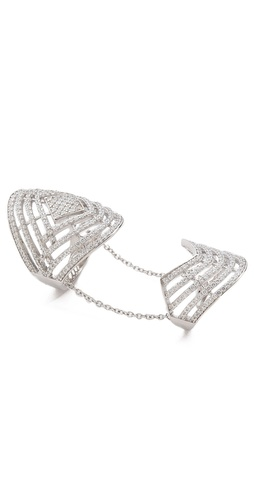 buy pave labyrinth double ring from fallon je