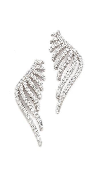 Fallon Jewelry Pave Wing Earrings