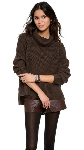 525 America Shaker Loose Turtleneck