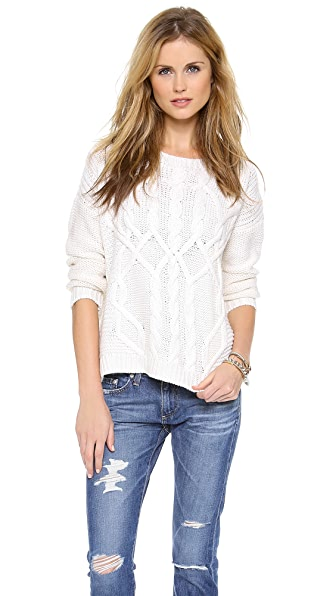 525 America Traveling Cable Boyfriend Sweater