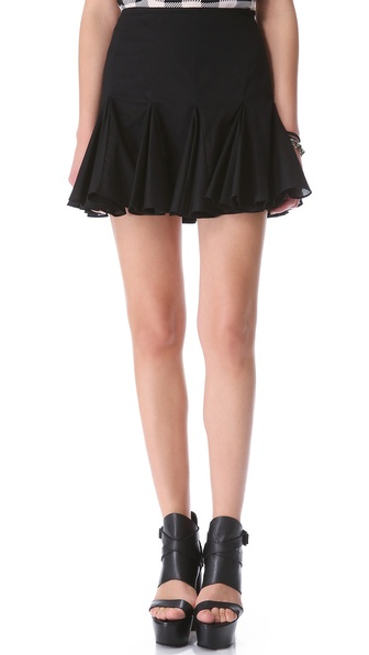 Friends & Associates Cotton Godet Skirt