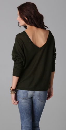 Feel The Piece V Back Cashmere Sweater