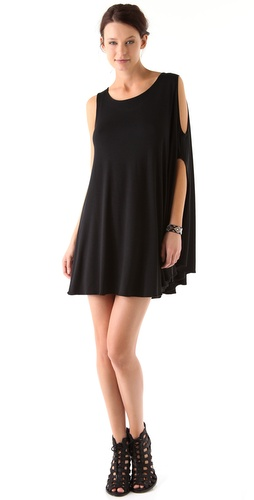 Feel The Piece Cold Shoulder Dress