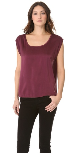Feel The Piece Half & Half Boat Neck Top