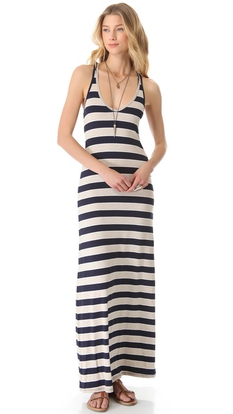Feel The Piece V-Neck Striped Maxi Dress