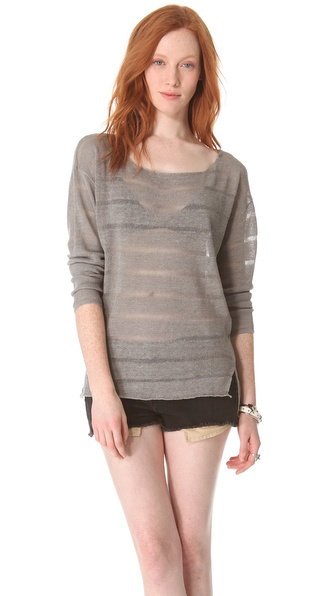 Feel The Piece Tuck Tunic Sweater
