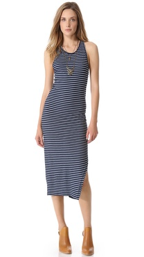 Feel The Piece Scoop Neck Indigo Dress