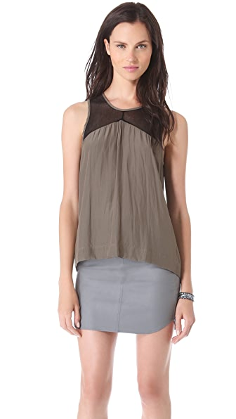 Feel The Piece Button Back Tank