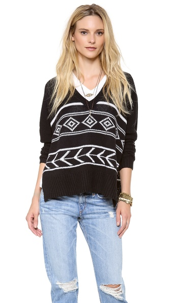 Feel The Piece Intarsia Sweater