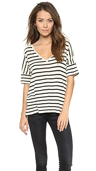 Feel The Piece Linen Stripe Tee