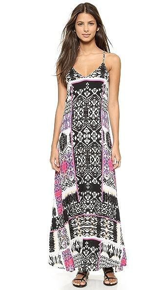 Tribal Print Maxi Dress Felicite. Цвет: розовый