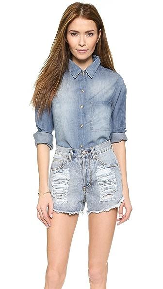 Рубашка в мужском стиле Felicite. Цвет: синий