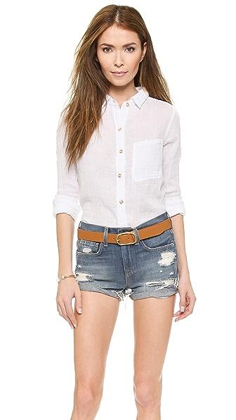 Рубашка в мужском стиле Felicite. Цвет: белый