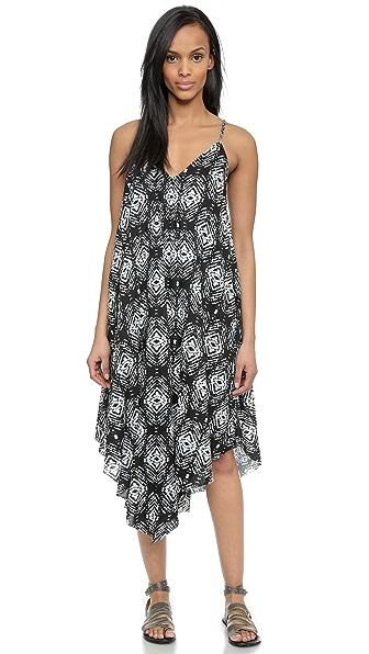 Платье миди Felicite. Цвет: черный принт в стиле икат