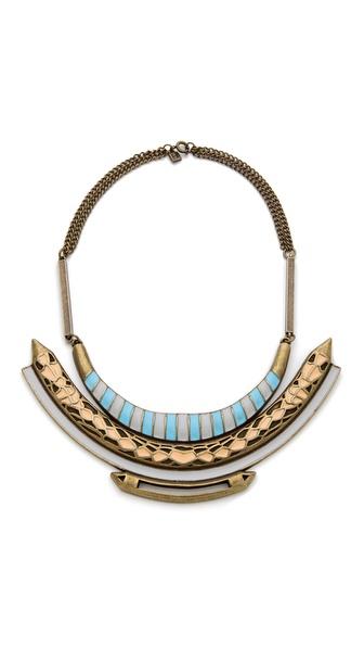 FELIKS+ADRIK Enamel Python Bib Necklace