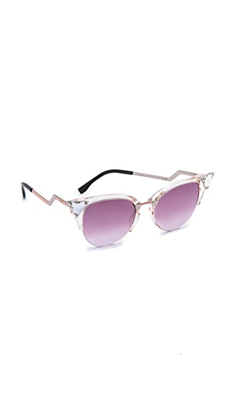 Fendi Fendi Rimless Bottom Sunglasses (Multicolor)