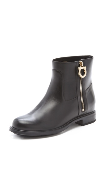 Salvatore Ferragamo Toni Biker Ankle Booties
