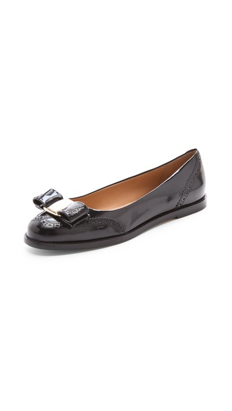 Salvatore Ferragamo Tolina Bow Flats
