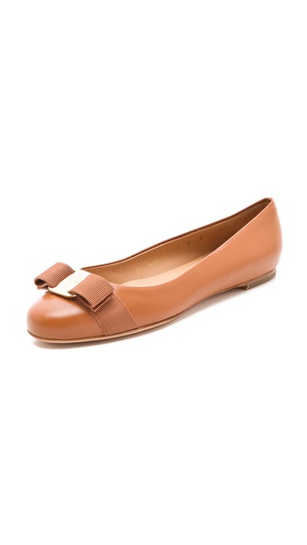 Salvatore Ferragamo Varina Classic Bow Flats