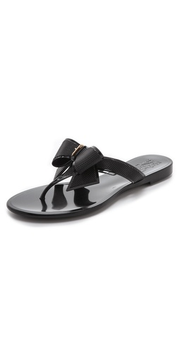 Shop Salvatore Ferragamo Balli Jelly Flip Flops and Salvatore Ferragamo online - Footwear,Womens,Footwear,Sandals, online Store