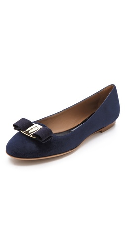 Salvatore Ferragamo Scott Smoking Flats