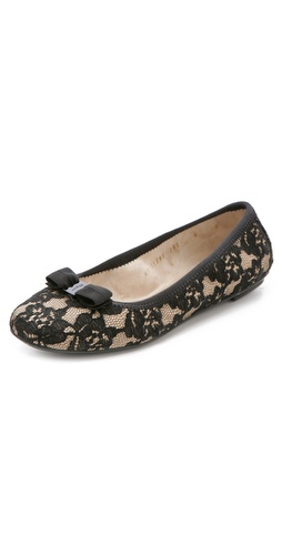 Shop Salvatore Ferragamo My Belle Lace Flats and Salvatore Ferragamo online - Footwear,Womens,Footwear,Flats, online Store