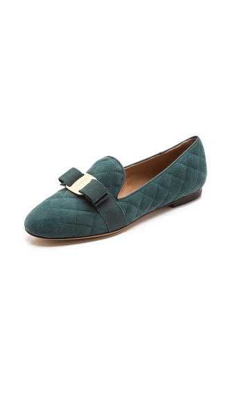 Salvatore Ferragamo Scotty Smoking Slippers