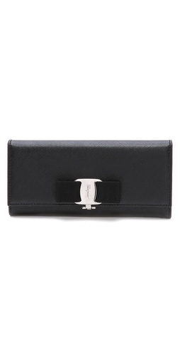Salvatore Ferragamo Miss Vara Bow Wallet at Shopbop / East Dane
