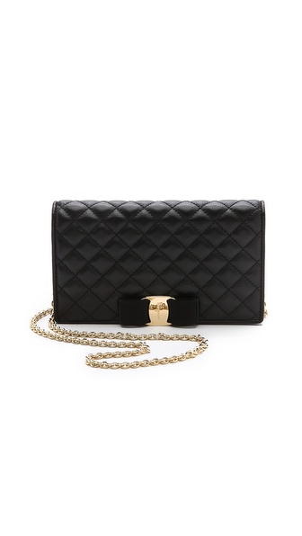 Salvatore Ferragamo Vara Bow Quilted Wallet / Purse