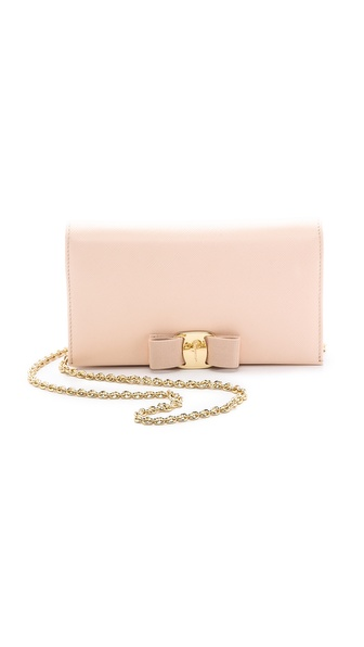 Salvatore Ferragamo Miss Vara Bow Wallet on a Chain
