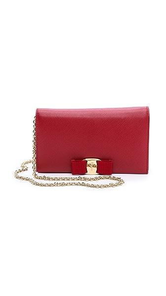Salvatore Ferragamo Miss Vara Bow Wallet on Chain