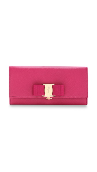Salvatore Ferragamo Miss Vara Bow Flap Wallet