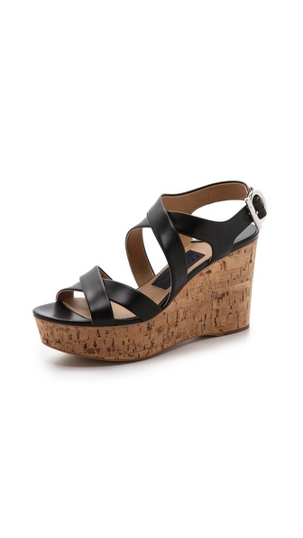 Salvatore Ferragamo Persey Cork Wedge Sandals