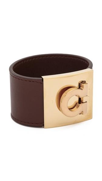 Salvatore Ferragamo Wide Gancio Cuff Bracelet