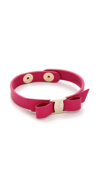 Salvatore Ferragamo Vara Bow Single Wrap Bracelet