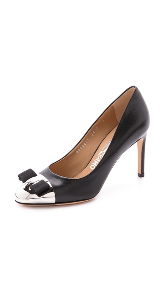 Salvatore Ferragamo Nina Cap Toe Pumps
