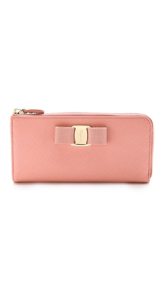 Salvatore Ferragamo Miss Vara Bow Clip Continental Wallet