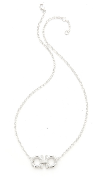Salvatore Ferragamo Double Gancio Necklace