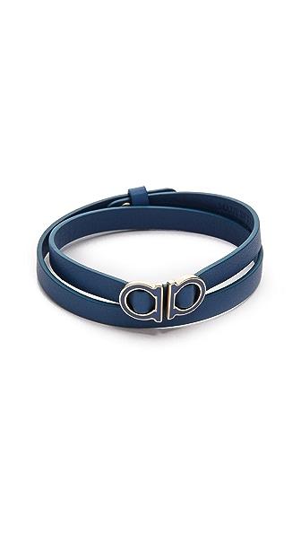Salvatore Ferragamo Gancio Double Wrap Bracelet