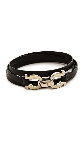 Salvatore Ferragamo Gancini Slim Wrap Bracelet