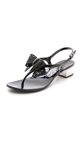 Salvatore Ferragamo Perala Sling Jelly Sandals