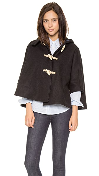 Gerald & Stewart by Fidelity Hooded Toggle Cape