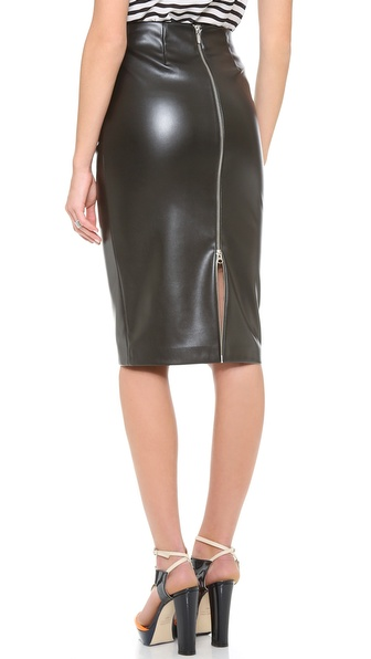 5th & Mercer Pleather Pencil Skirt