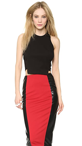 5th & Mercer Sleeveless Crop Top